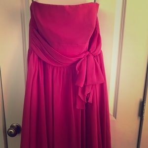 Alfred Angelo Fuchsia Bridesmaid Dress Sz 16